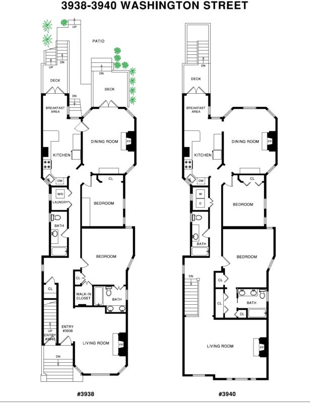 3938 Washington Floor Plans